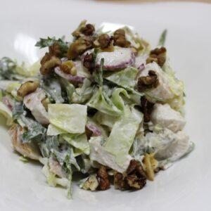 Французский салат с пряным сыром 7