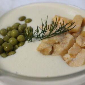 Крем суп из цветной капусты с лососем 5