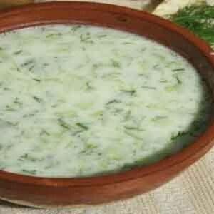 Холодный суп из щавеля со шпинатом 1