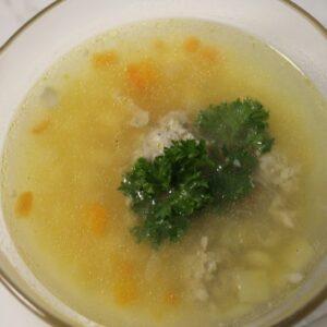 Суп картофельный с мясными фрикадельками 3